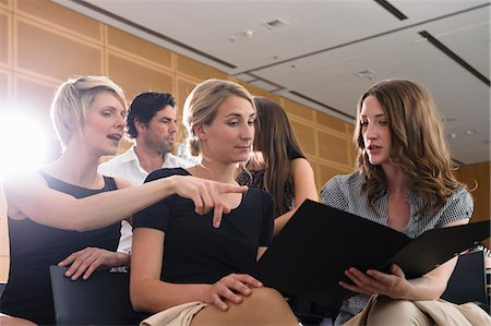 Businesswomen talking in office Stock Photo - Premium Royalty-Free, Code: 649-06488703