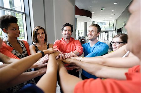 piles of work - Business people cheering in office Stock Photo - Premium Royalty-Free, Code: 649-06488784