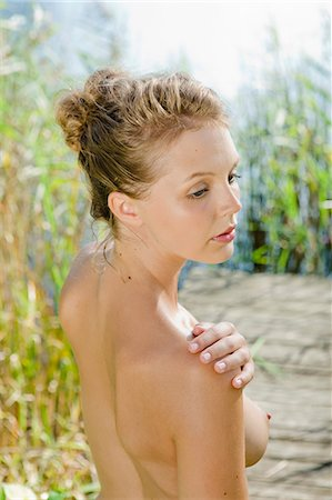 female nude breast sexy - Nude woman standing in riverbank Stock Photo - Premium Royalty-Free, Code: 649-06489159