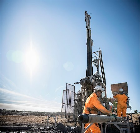 drilling - Workers on drilling rig at coal mine Stock Photo - Premium Royalty-Free, Code: 649-06489591