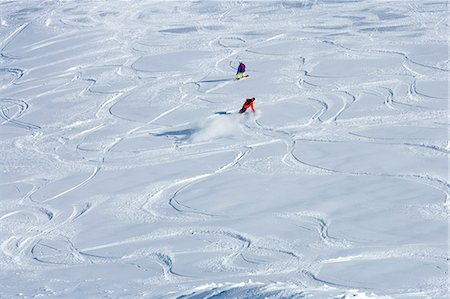 sports and snowboarding - Snowboarders making tracks in snow Stock Photo - Premium Royalty-Free, Code: 649-06490029