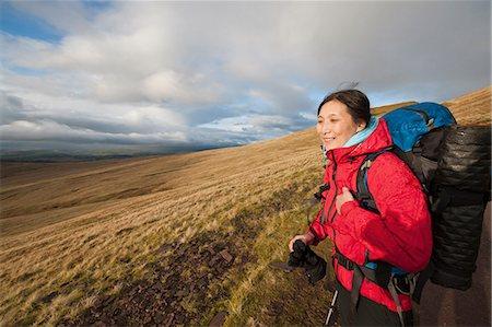 Hiker standing on gravel path Stock Photo - Premium Royalty-Free, Code: 649-06490097