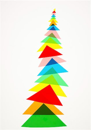 Illustration of colorful triangles Stock Photo - Premium Royalty-Free, Code: 649-06532529