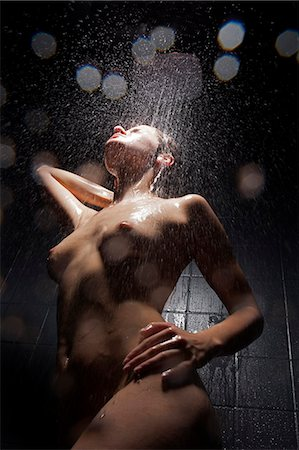 female nude breast sexy - Woman washing herself in shower Stock Photo - Premium Royalty-Free, Code: 649-06532563