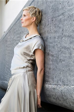 elegant - Woman wearing silk gown Stock Photo - Premium Royalty-Free, Code: 649-06532701