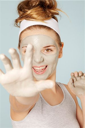 preteen beauty - Smiling girl wearing face mask Stock Photo - Premium Royalty-Free, Code: 649-06533084