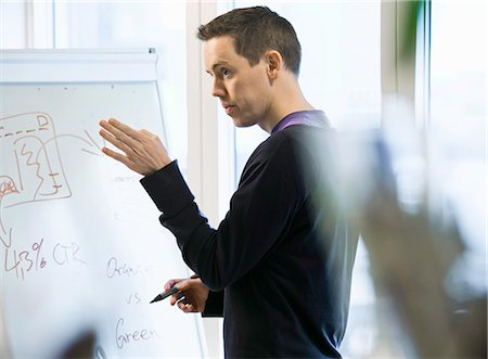 strategy - Businessman writing on whiteboard Stock Photo - Premium Royalty-Free, Code: 649-06533312