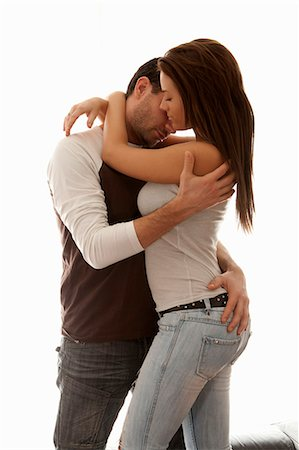 sexy - Couple hugging indoors Photographie de stock - Premium Libres de Droits, Code: 649-06622021