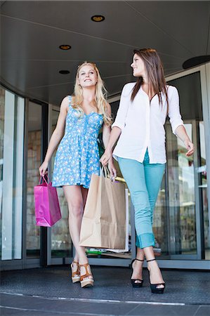 Women shopping together on city street Stock Photo - Premium Royalty-Free, Code: 649-06622205