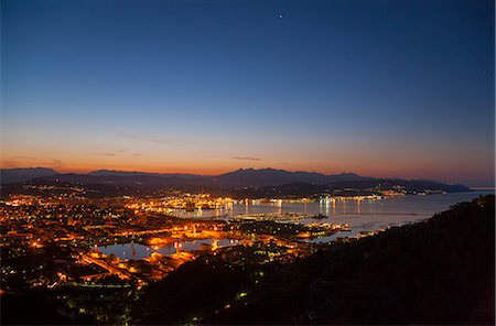 Aerial view of La Spezia and harbor Stock Photo - Premium Royalty-Free, Code: 649-06622303