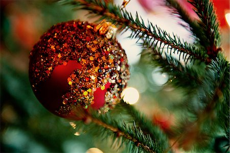 Close up of Christmas ornament Stock Photo - Premium Royalty-Free, Code: 649-06622612
