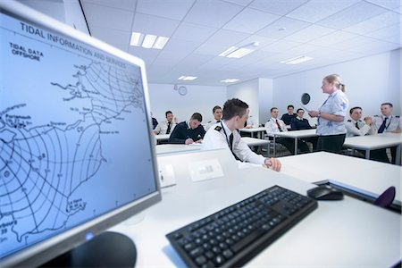 Students in shipping training room Stock Photo - Premium Royalty-Free, Code: 649-06622725