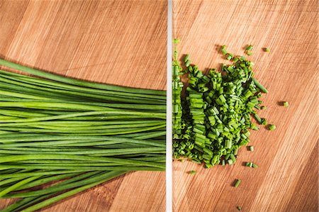 Diptych of whole and chopped chives Stock Photo - Premium Royalty-Free, Code: 649-06622952
