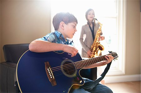 Children playing music together Stock Photo - Premium Royalty-Free, Code: 649-06716503