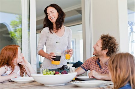 family table eating together - Family having breakfast together Stock Photo - Premium Royalty-Free, Code: 649-06716960