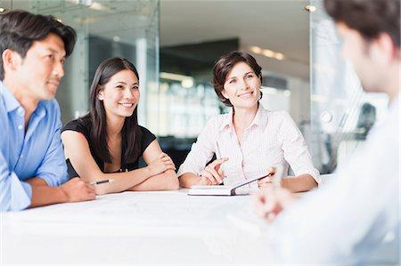 Business people talking in meeting Stock Photo - Premium Royalty-Free, Code: 649-06717099