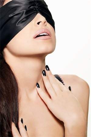 desire - Woman wearing blindfold Stock Photo - Premium Royalty-Free, Code: 649-06717518