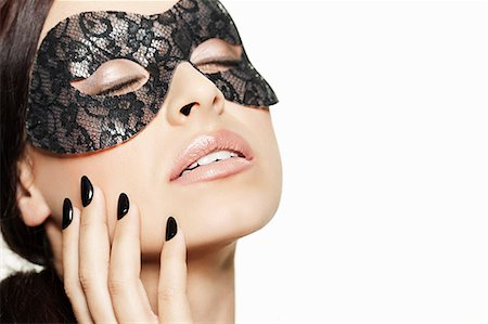 desire - Woman wearing lace mask Stock Photo - Premium Royalty-Free, Code: 649-06717520