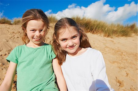 preteen girl - Two girls on beach, portrait Stock Photo - Premium Royalty-Free, Code: 649-06812036