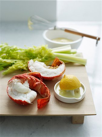 Fresh lobster Stock Photo - Premium Royalty-Free, Code: 649-06812202