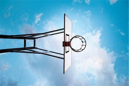 Basketball hoop, low angle Stock Photo - Premium Royalty-Free, Code: 649-06812730