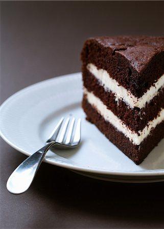 dessert - Homemade layered chocolate cake Stock Photo - Premium Royalty-Free, Code: 649-06812912
