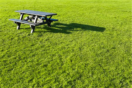recreation - Empty picnic table on grass Stock Photo - Premium Royalty-Free, Code: 649-06812959