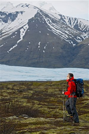 Woman hiking, Skaftafell national park, Iceland Stock Photo - Premium Royalty-Free, Code: 649-06813154
