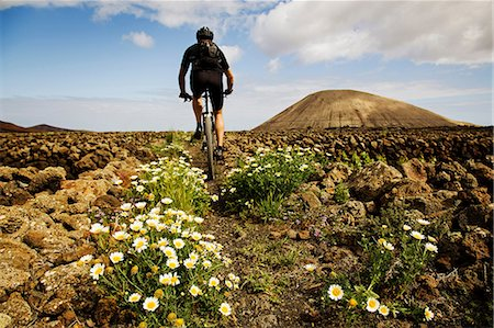 Man mountain biking, Lanzarote Stock Photo - Premium Royalty-Free, Code: 649-06829977