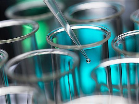 Analytical chemistry - sample being pipetted into test tube for analysis in laboratory Stock Photo - Premium Royalty-Free, Code: 649-06844073