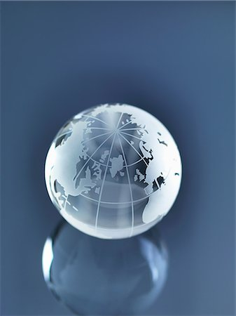 Glass Globe illustrating North America, Europe, Russia and Africa Stock Photo - Premium Royalty-Free, Code: 649-06844084