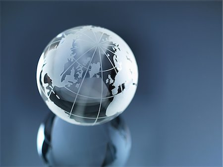 Glass Globe illustrating North and South America, Europe, Russia and Africa Stock Photo - Premium Royalty-Free, Code: 649-06844085
