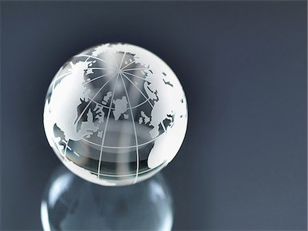 Glass Globe illustrating North and South America, Europe, Russia and Africa Stock Photo - Premium Royalty-Free, Code: 649-06844083