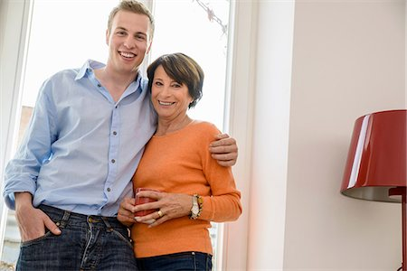 Portrait of mother with grown up son Stock Photo - Premium Royalty-Free, Code: 649-06844439