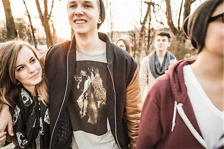 five - Five teenagers walking together Stock Photo - Premium Royalty-Free, Code: 649-06844588