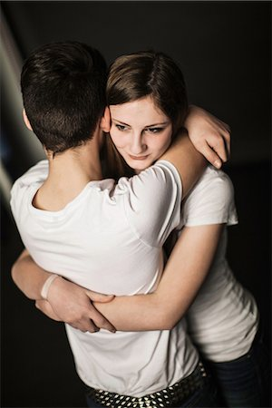 Teenage couple hugging Stock Photo - Premium Royalty-Free, Code: 649-06844599