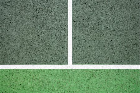 White lines on tennis court Foto de stock - Sin royalties Premium, Código: 649-06844890