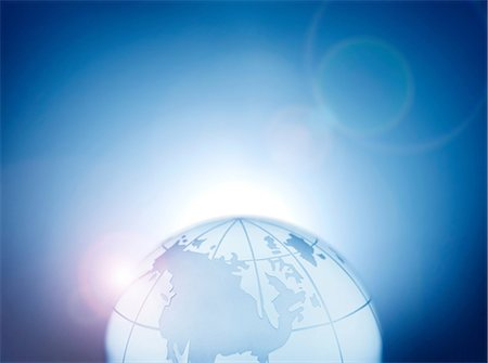 Glass globe representing North America, Canada, Alaska and Greenland Stock Photo - Premium Royalty-Free, Code: 649-07064007