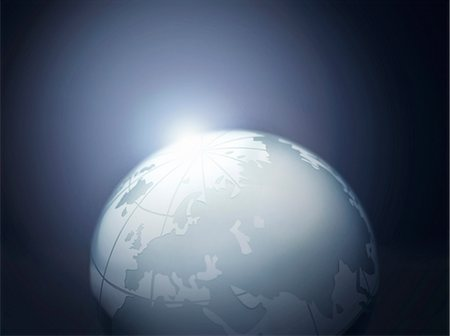 Glass globe representing Europe, Russia, Middle East, China and India Stock Photo - Premium Royalty-Free, Code: 649-07064008