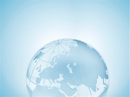 Glass sphere representing Europe, Russia, Middle East, China and India Stock Photo - Premium Royalty-Free, Code: 649-07064009