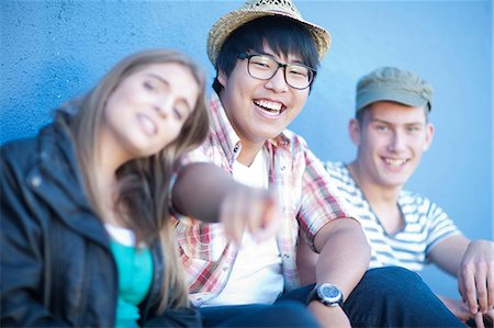 Group of teenage friends having fun Stock Photo - Premium Royalty-Free, Code: 649-07064225