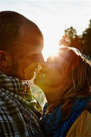 Couple kissing Stock Photo - Premium Royalty-Free, Code: 649-07064578