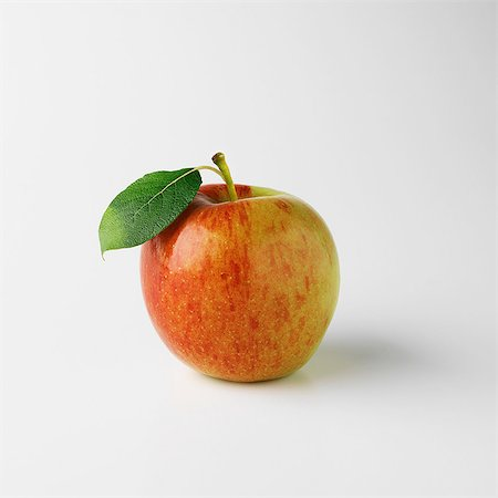 One apple on white background Stock Photo - Premium Royalty-Free, Code: 649-07064948