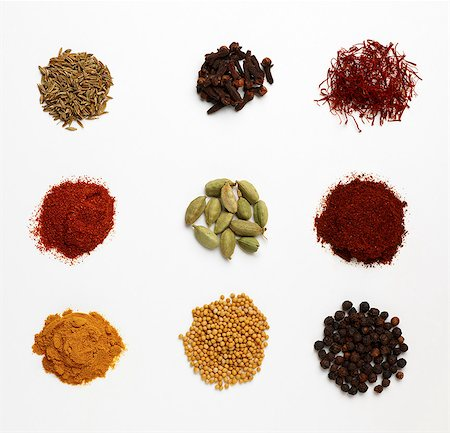 dry - Selection of dried spices Stock Photo - Premium Royalty-Free, Code: 649-07064984