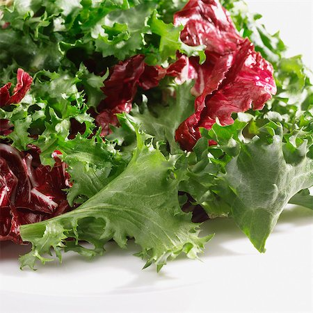 Mixed salad leaves Stock Photo - Premium Royalty-Free, Code: 649-07064987