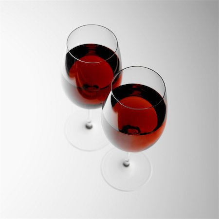 Two glasses of red wine Stock Photo - Premium Royalty-Free, Code: 649-07065078