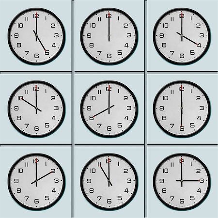 Clocks with different time zone Stock Photo - Premium Royalty-Free, Code: 649-07065087