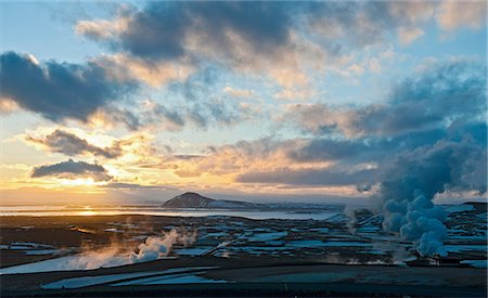 dreamy - Geothermal steam, Lake Myvatn, Iceland Stock Photo - Premium Royalty-Free, Code: 649-07062977