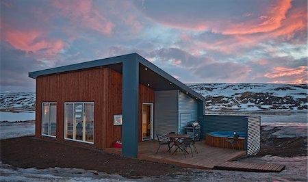 Chalet, Laugar, Iceland Stock Photo - Premium Royalty-Free, Code: 649-07062973