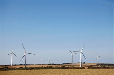 Wind farm Truro, Cornwall, England, UK Photographie de stock - Premium Libres de Droits, Code: 649-07062983